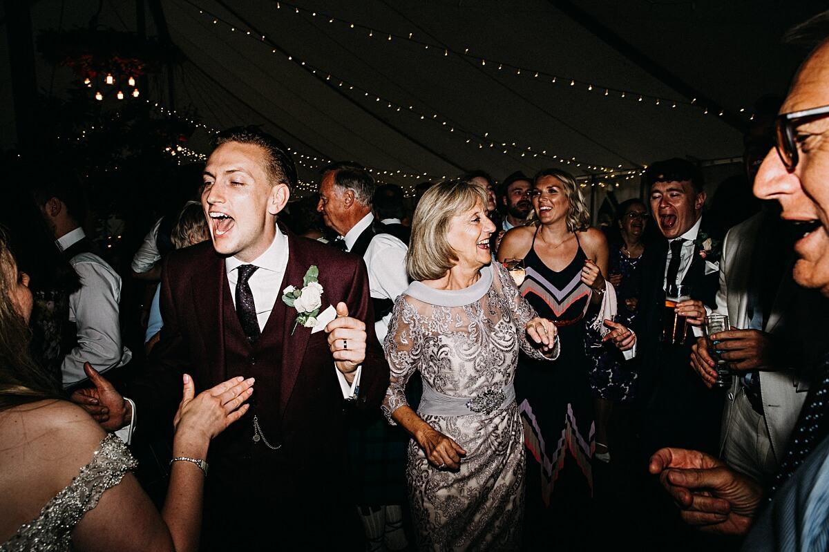 Rustic marquee wedding Staffordshire