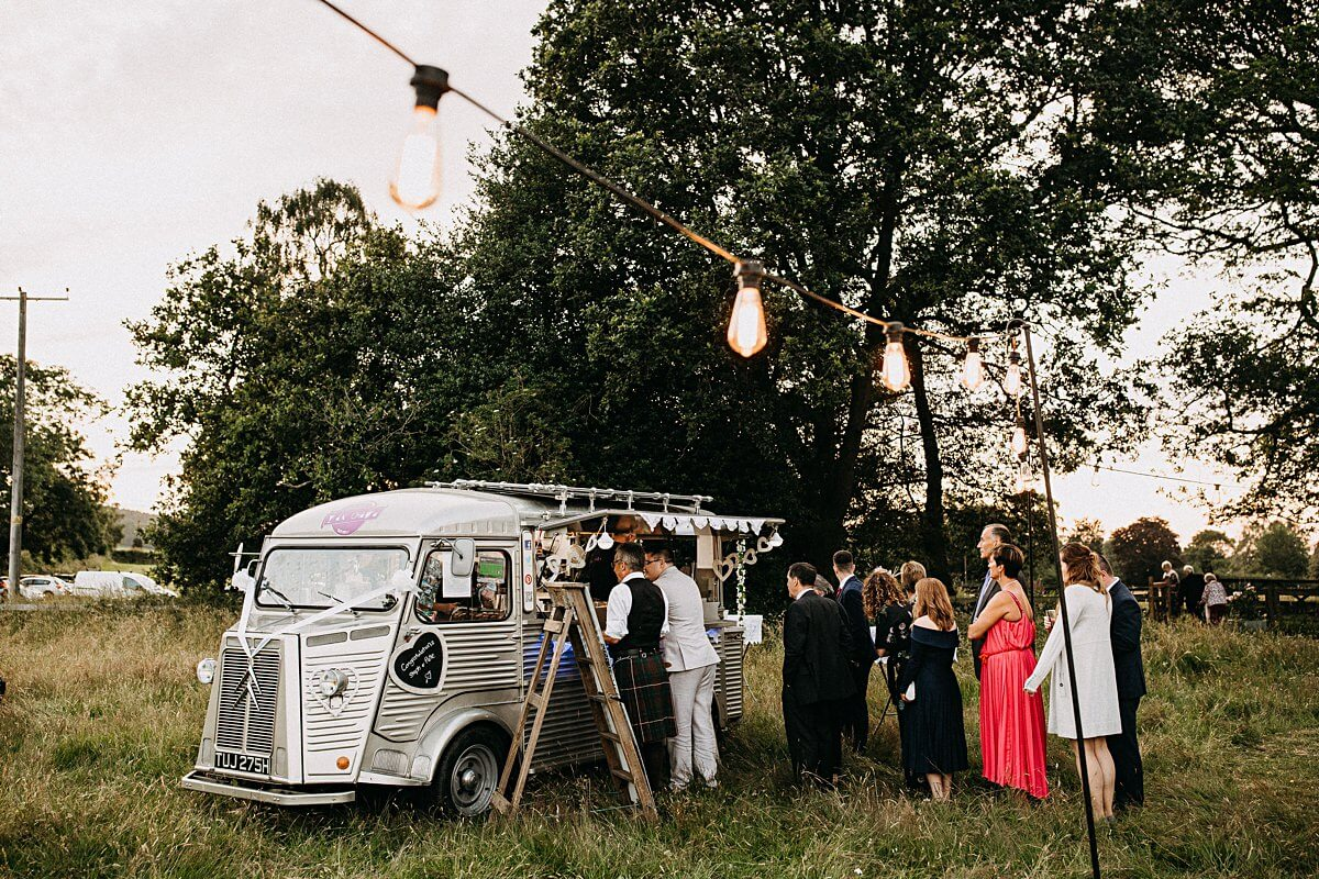 Outdoor wedding food truck