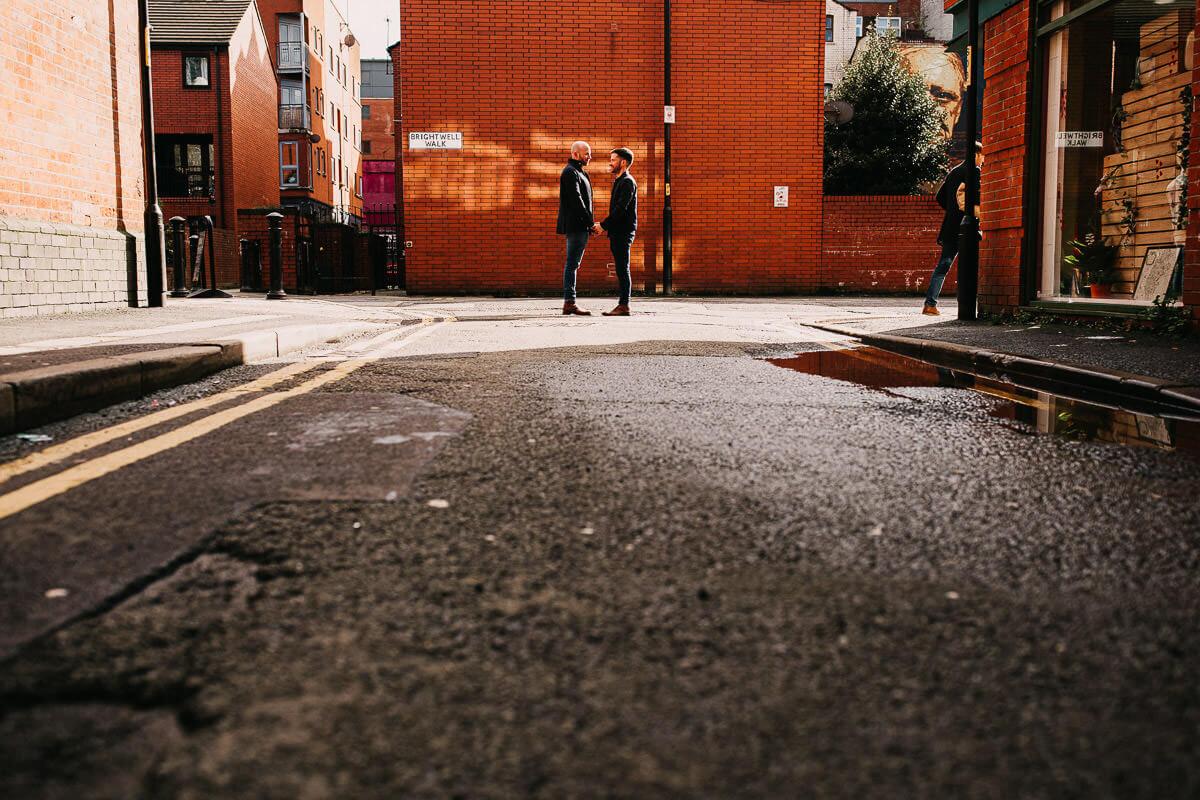 City centre pre wedding shoot
