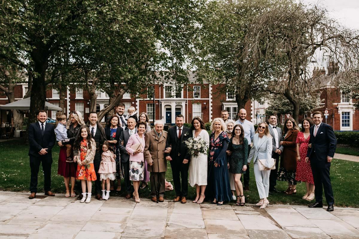 Cheshire wedding group photo