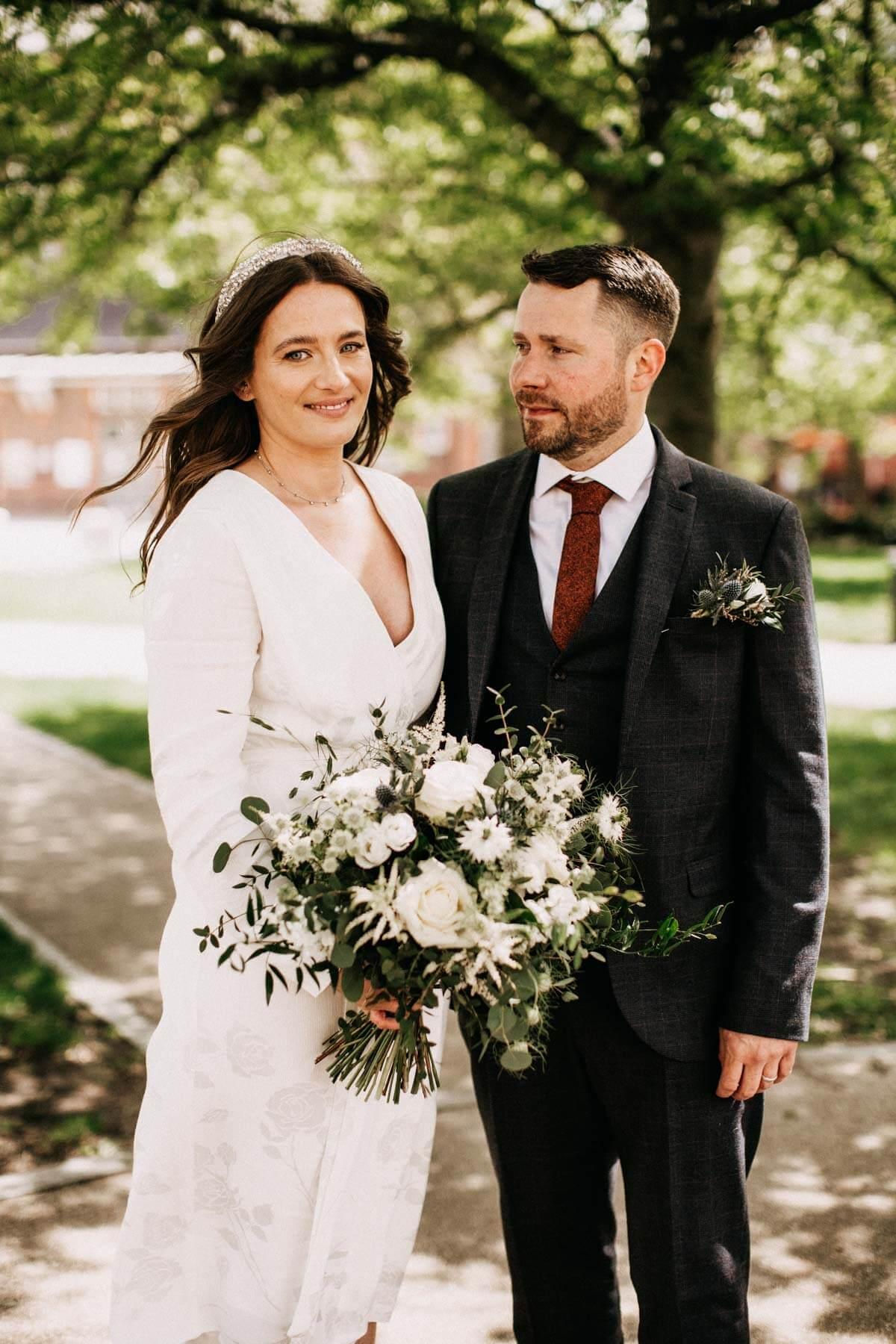 Beautiful wedding portraits around Warrington Cheshire