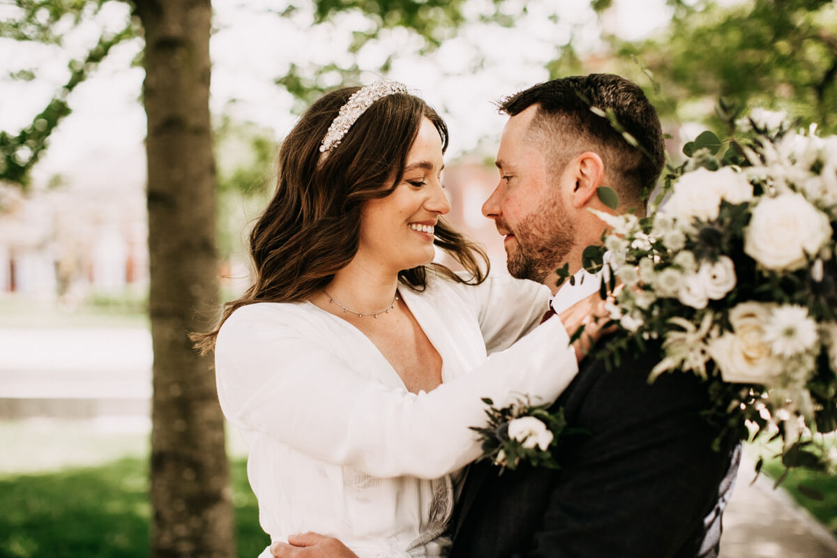 Relaxed intimate Cheshire wedding
