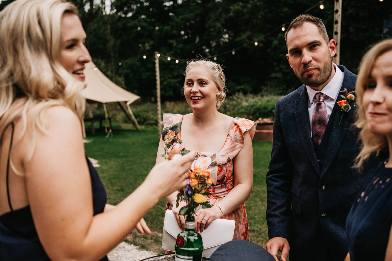 Outdoor tipi wedding Gisburne Park Lancashire