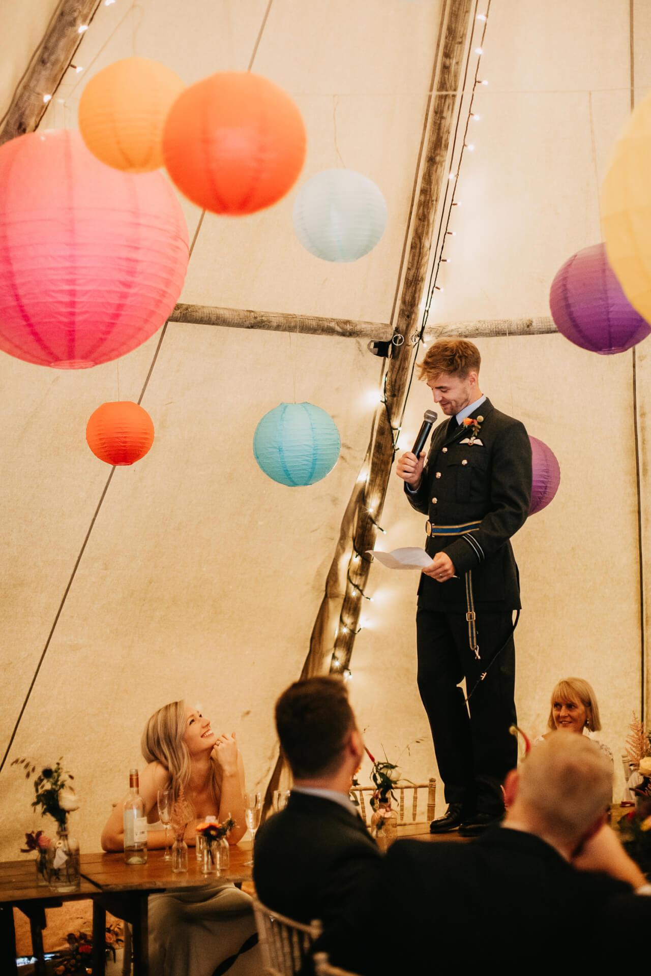 Groom's speech at Gisburne Park wedding