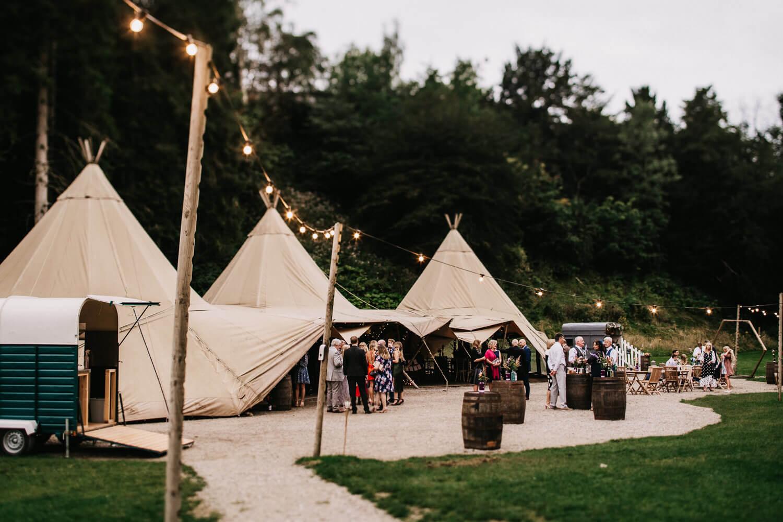 Tipi wedding at Gisburne Park Lancashire