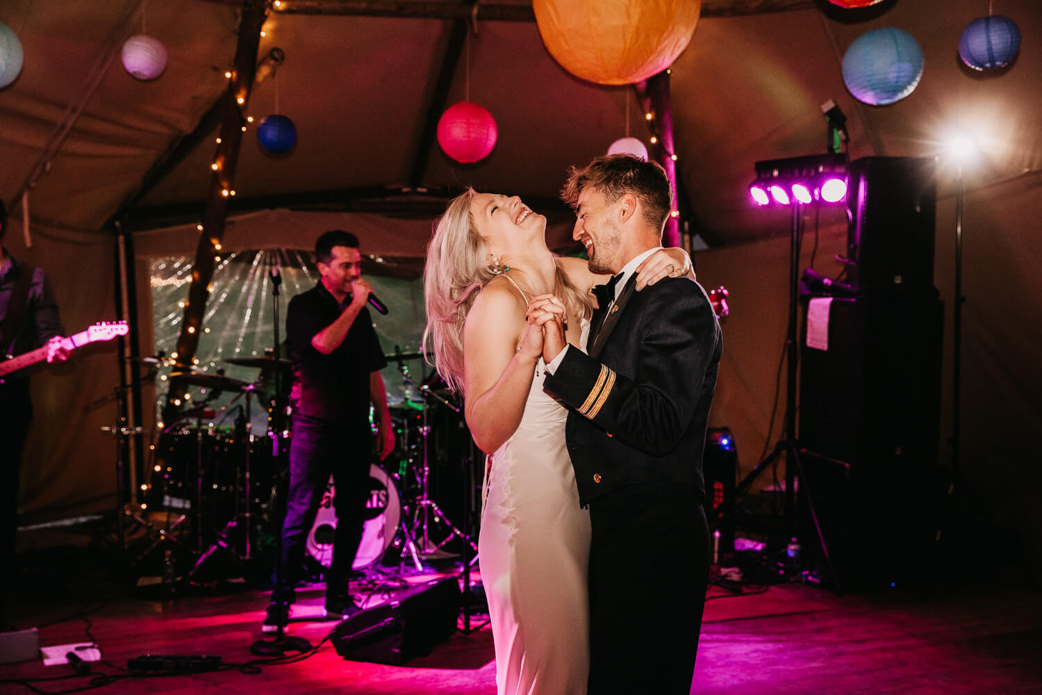 First dance in the tipi at Gisburne Park